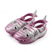 Polliwalks shark raspberry/silver