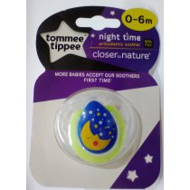 จุกนมหลอกรุ่น Night Time 0-6 เดือน - Night Time Orthodontic Soother Closer to Nature