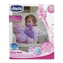 Chicco Soft Toys Baby Bear-Blue, สีชมพู