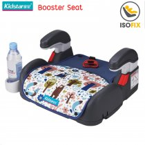 Kidstar Booster Seat with Isofix, สี: ฟ้ามีลาย