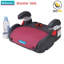 Kidstar Booster Seat with Isofix, สี: แดงเข้ม
