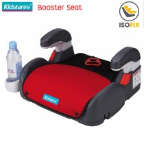 Kidstar Booster Seat with Isofix, สี: แดงสว่าง
