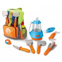 Little Explorer Camping Backpack Play Set (9-Piece)
